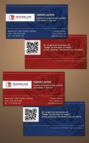Дизайн визиток для директора тюнинговой компании