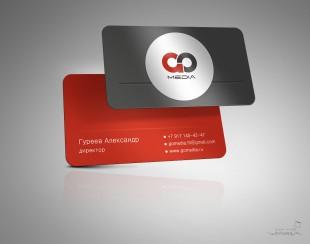 Дизайн визиток для компании GO Media