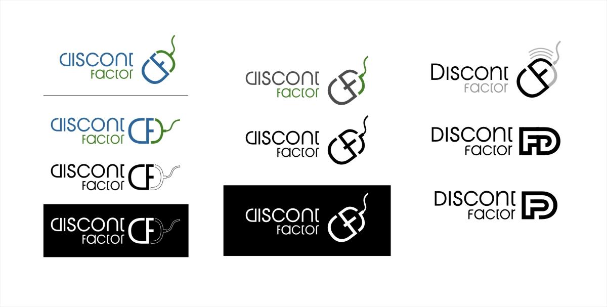 Логотип дисконтфактор наброски