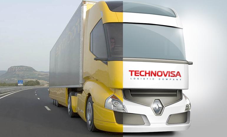 Отрисовка грузовика для сайта