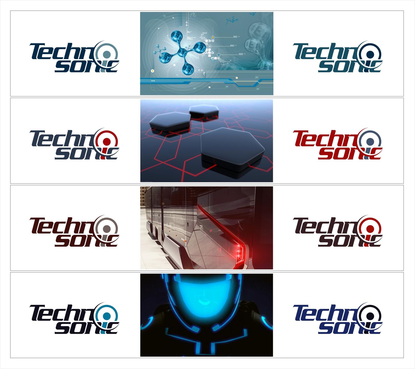 Цветовое решение логотипа Techosonic