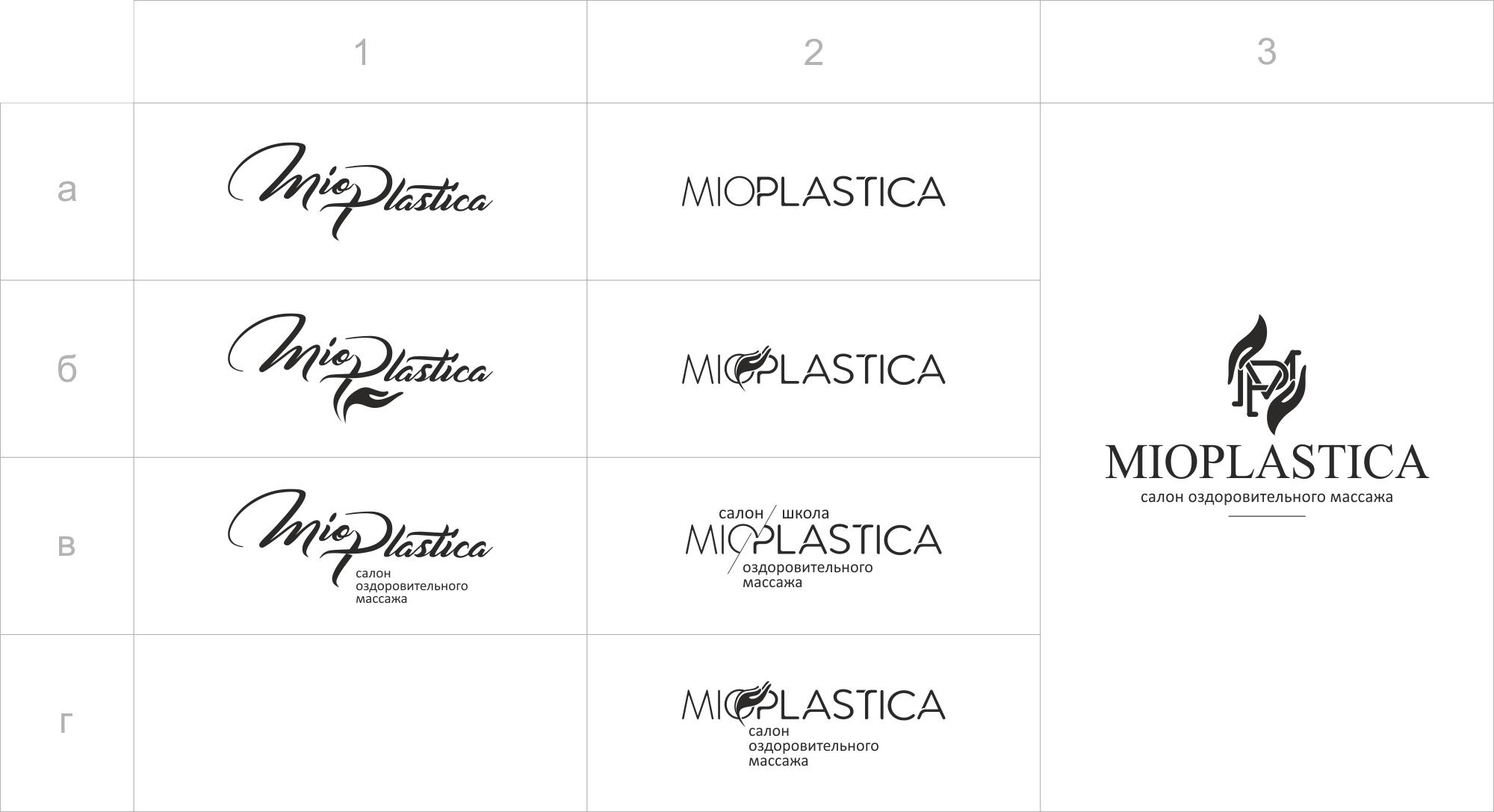 Наброски логотипа Миопластика