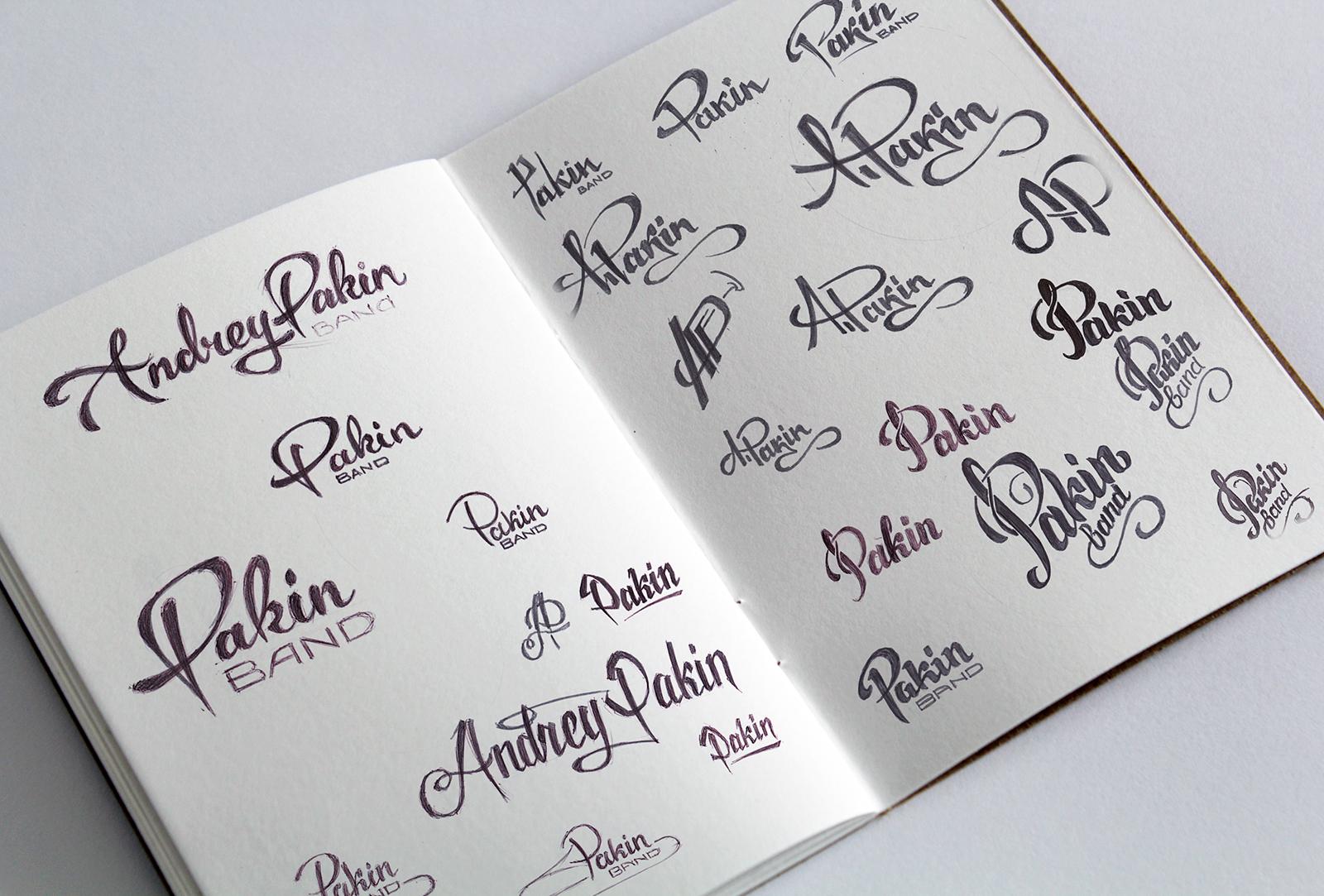 Набросок логотипа Андрей Пакин