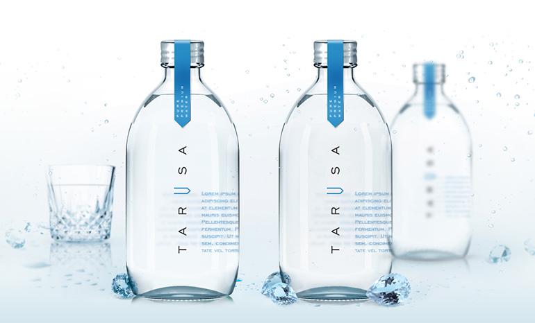 Разработка фирменного стиля для минеральной воды класса люкс